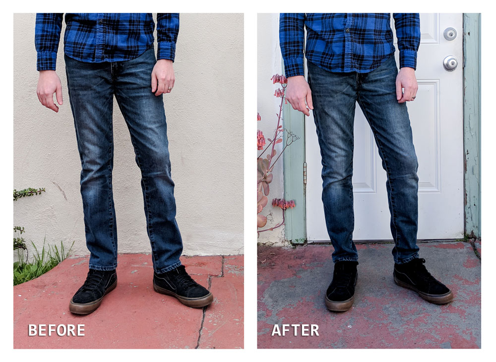 How To Taper Jeans Before and After